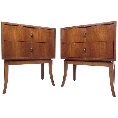 mid century modern bedside table pair of mid century modern bedside tables at 1stdibs
