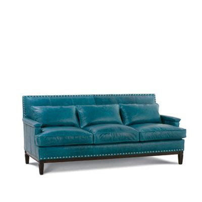 teal colored couches teal leather sofa cindy crawford home marcella spa blue