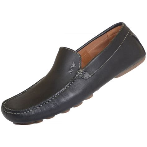 armani loafers armani 06560 black leather loafer armani