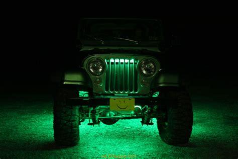 Led Lights Jeep Green Led Grille Lights Images