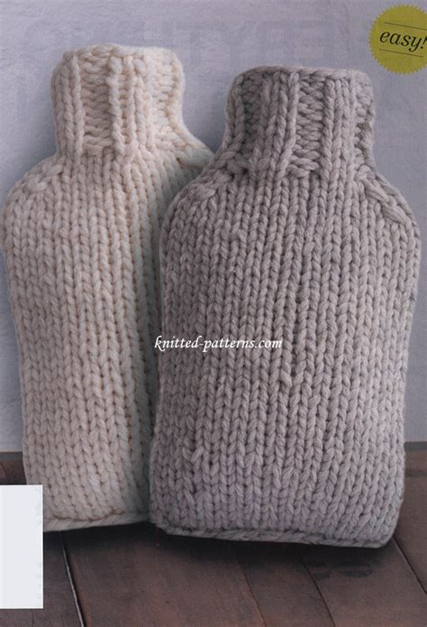 knitting pattern hot water bottle cover hot water bottle covers