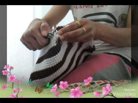 cara membuat tas rajut ransel cara membuat tas tali kur motif pelangi 2 warna by azriofi