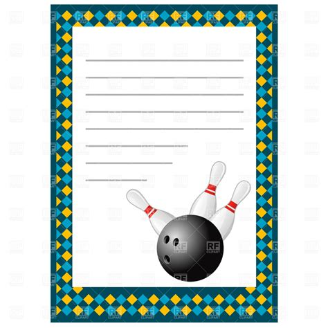 bowling invitation template bowling invitation blank template 1164 design elements