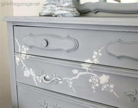 chalk paint stencils chalk paint and cherry blossoms a dresser makeover