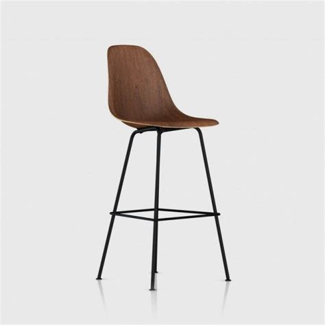 Eames Bar Stool Base by Eames 174 Moulded Wood Bar Stool With Walnut Shell And Black