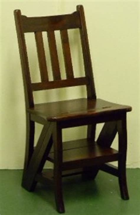 Step Stool Chair Combination by Chair Step Stool Combination Library Mahogany Ebay