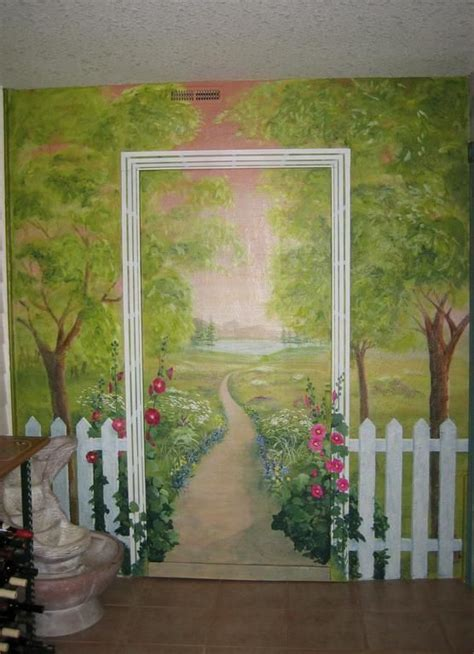 Garden Wall Paint Garden Mural Ideas Craft Diy