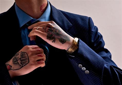 suits and tattoos removal work suit