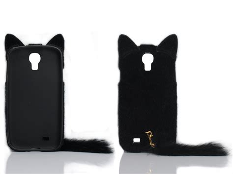 3d fluffy cat tpu cover skin for samsung