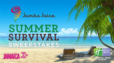 Free Travel Sweepstakes - jamaica travel sweepstakes by jamba juice try something fun
