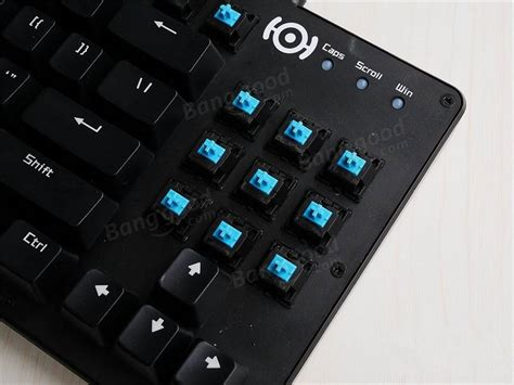 Nimxo K005 Blue Switch White by Nimxo K005 Keyboard Tenkeyless Blue Switch