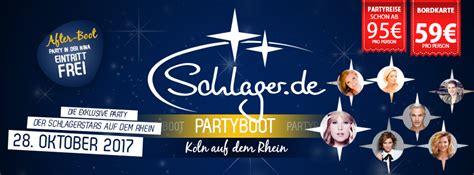 party boat zug schlager de partyboot k 246 ln 2017 partyreisen