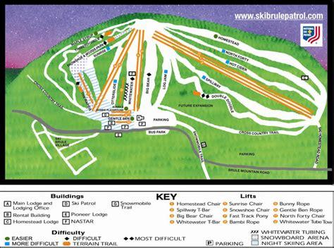 Ski Brule Cabins ski brule trail map skicentral