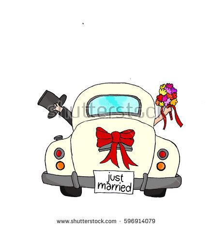 Just Married Auto Comic by Just Married Car Www Pixshark Images
