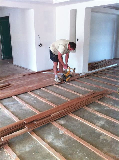 hardwood flooring on slab construction techniques pinterest
