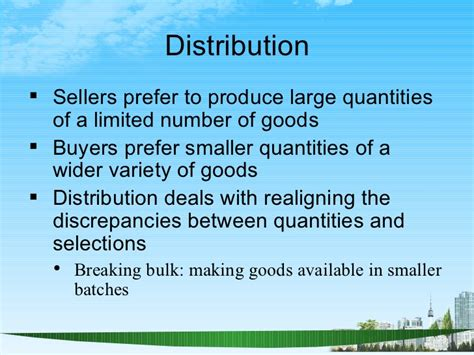 Mba Deals With by Channels Of Distribution Ppt Bec Doms Bagalkot Mba Marketing