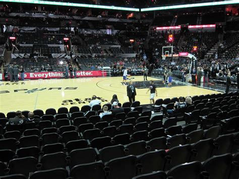 what is section 11 at t center section 22 san antonio spurs rateyourseats com