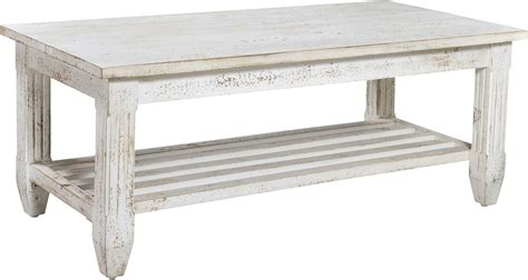 white distressed coffee table hattaras distressed white cocktail table 93421 coast to