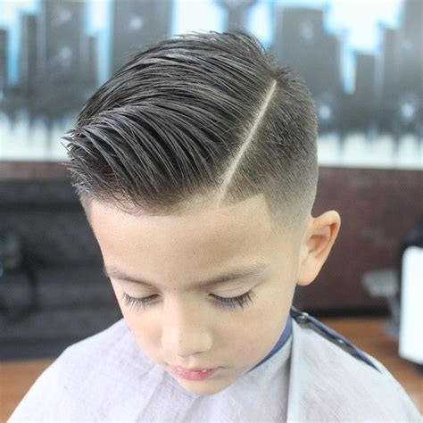 youth hsir cuts slick haircut with a quiff hair kids pinterest