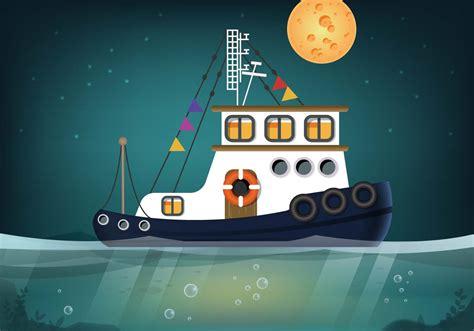 tugboat vector tugboat seascape vector download free vector art stock