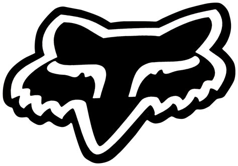 Fox Aufkleber Set by Fox Sticker Big Fox Head Black 18cm Maciag Offroad