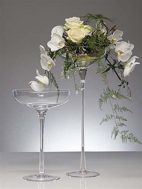 kerzenschale glas glasschale bowl ing mit stiel und fu 223 kelch schale glas