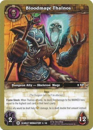 wow tcg chion deck bloodmage thalnos scarlet monastery 6 46 common wow