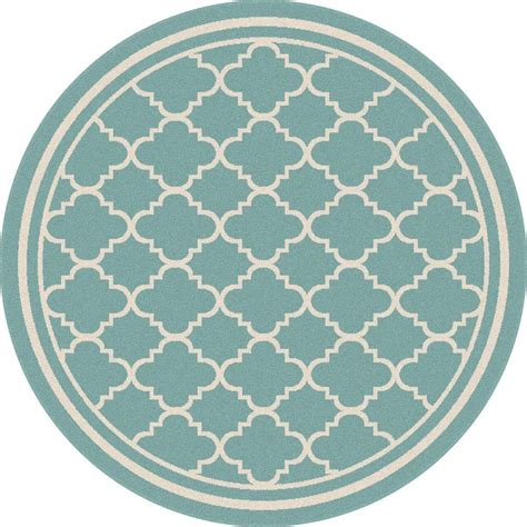round accent rugs tayse rugs garden city aqua 7 ft 10 in x 7 ft 10 in