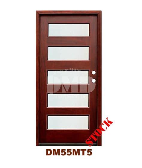 Exterior Door Ratings Dm55mt5 5 Lite Contemporary Mist Glass Exterior Wood Mahogany Door Door And Millwork