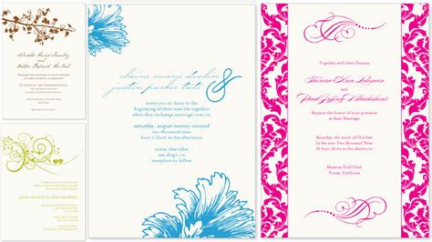 wedding invitations design plumegiant