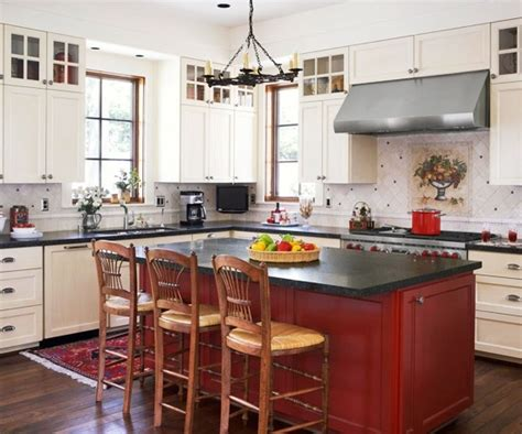 red kitchens with white cabinets red kitchen island with white cabinets kitchens white