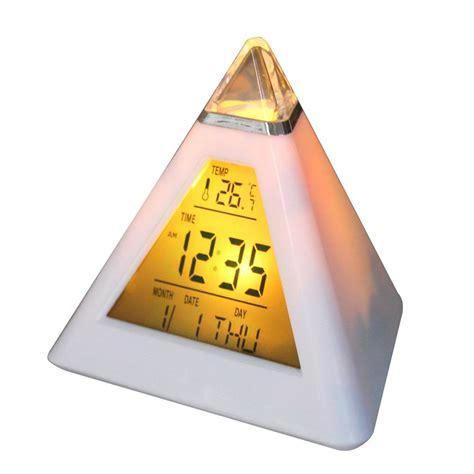 Color Changing Pyramid Clock Jam Meja Digital usir penat dengan jam keren harga jual
