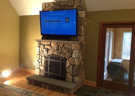 Fireplace Stonework by Nh Custom Work Indoor Fireplaces Distinctive