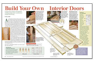 How To Make An Interior Door Build Your Own Interior Doors Homebuilding