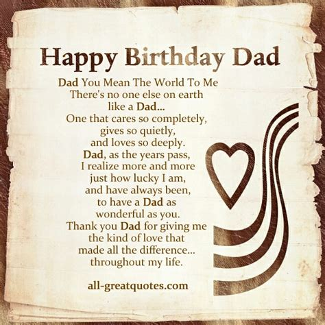 happy birthday images father happy birthday to a very special person my dad hope