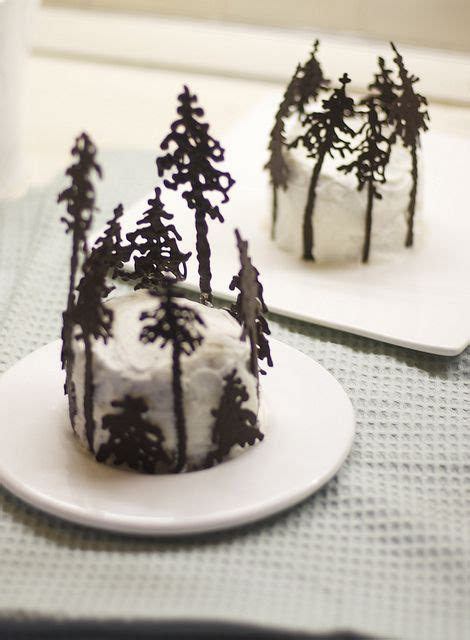 How To Make Chocolate Designs On Wax Paper - chocolate tree snow and cakes on