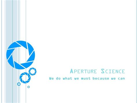 Aperture Science Pp Template By Yoshemo On Deviantart Science Powerpoint Templates Free