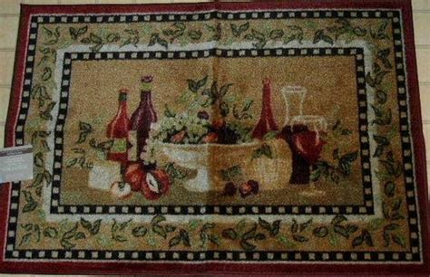 themed kitchen rugs this wine and fruit themed kitchen area rug will add a decorative flair to your wine themed