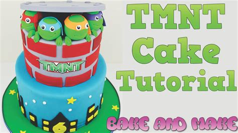 How To Make A Birthday Cake Out Of Paper - how to make a tmnt birthday cake tutorial bake and make