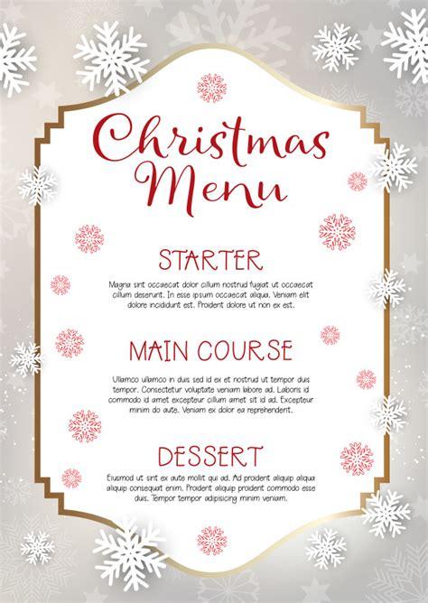 design a xmas menu christmas menu design background vector free download