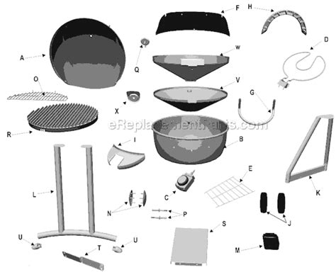 Char Broil Patio Bistro Parts by Char Broil 11601559 Parts List And Diagram