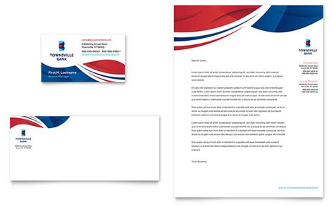 A Bank Letterhead Bank Business Card Letterhead Template Design