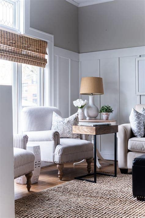 neutral  gray living room makeover   started