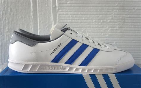 adidas hamburg biru white line adidas originals hamburg a closer look soleracks