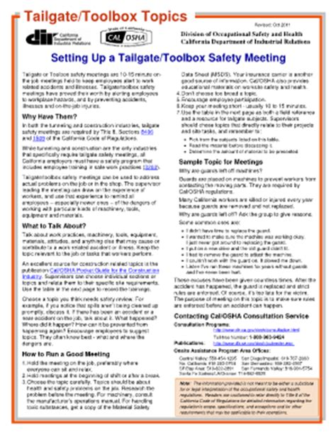 tailgate safety meeting template safety sign in sheet forms and templates