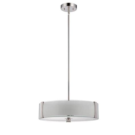 beldi roseburg collection 3 light satin nickel pendant