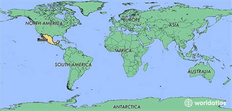 map showing mexico where is mexico where is mexico located in the world