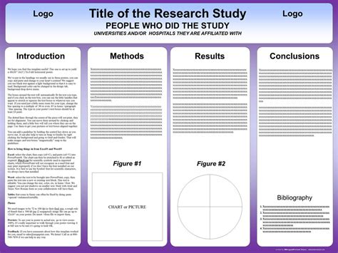 Scientific Poster Template Free Powerpoint by A0 Scientific Poster Template Powerpoint