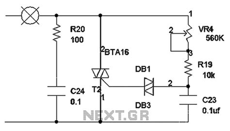 capacitor triac circuit gt other circuits gt triac circuits gt triac dimming circuit diagram l59209 next gr