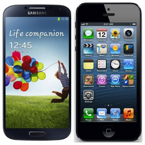 Hp Iphone Vs Samsung apple s iphone 5 vs samsung s galaxy s4 are they worth the price